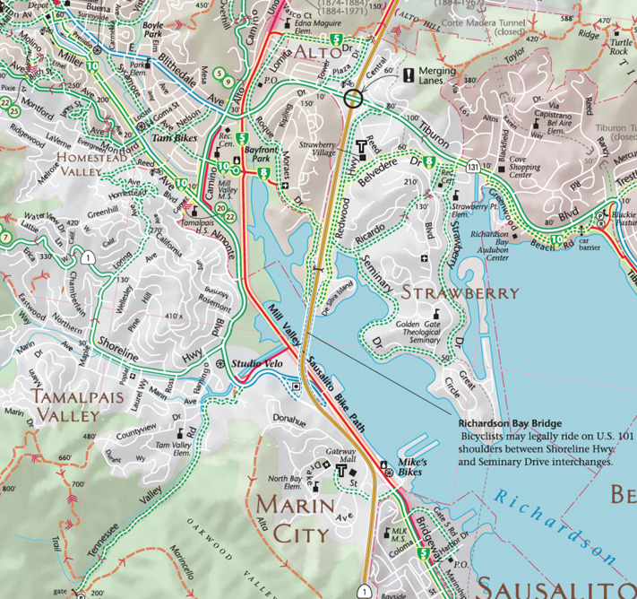 Marin Bicycle Map